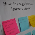 How do you gather learner's views postits