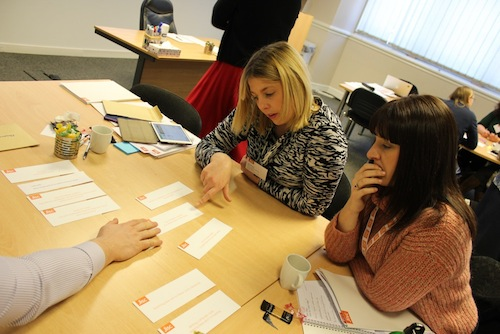 Participants at consultation events using card sort